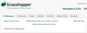 grasshopper voicemail