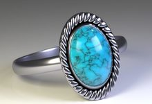 blue cremation ring