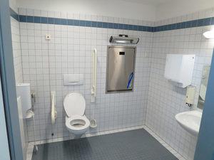 wall mounted toilet public restroom