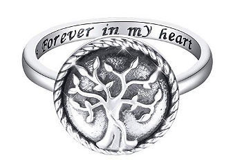 Tree of Life Urn Ring