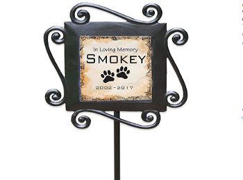 Custom Garden Stake Pet Memorial