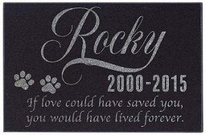 Custom Pet Gravestone Granite