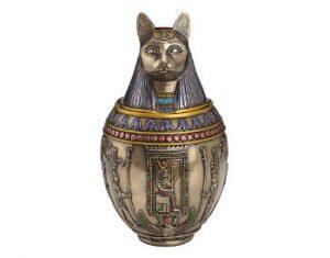 Egyptian Goddess Bastet Cat Ashes Urn