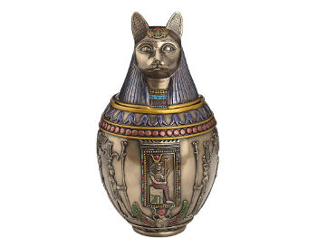 Egyptian Goddess Bastet Cat Ashes Urn
