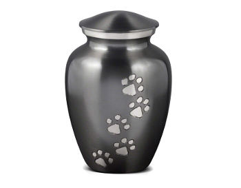 Urn with Pet Paw Prints