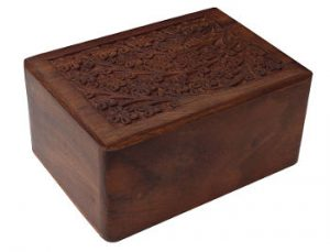 Rosewood Box Chest Ashes Urn