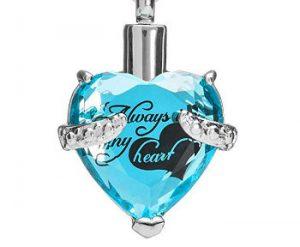Glass & Rhinestone Urn Necklace