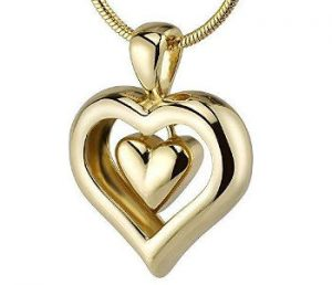 Urn Gold Heart Necklace